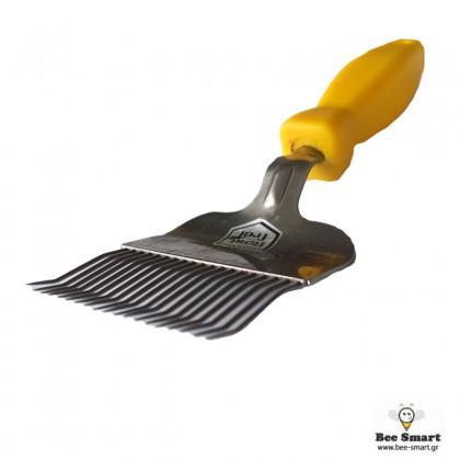 Πιρούνι απολεπισμού 19 βελόνων κίτρινο ανοξείδωτο by www.bee-smart.gr