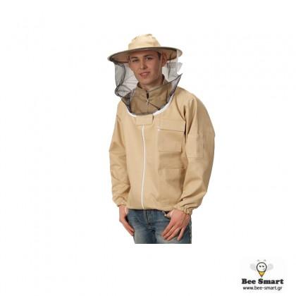 Φούτερ Μελισσοκομίας με καπέλο με φερμουάρ by www.bee-smart.gr