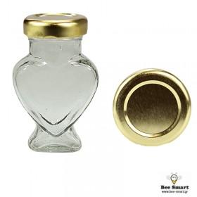 Βάζο γυάλινο 106 ml καρδιά